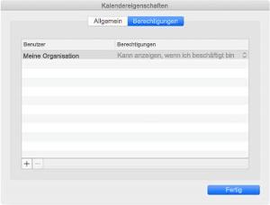 Kalendereigenschaften-Fenster, wenn Sie über REST-Synchronisierung verfügen.