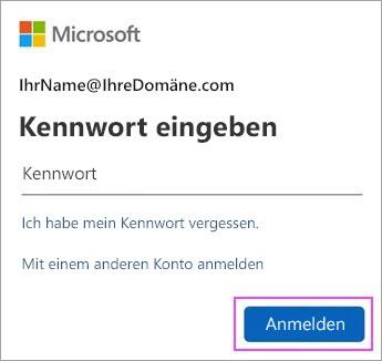 Geben Sie Ihr Outlook.com-Kennwort ein.