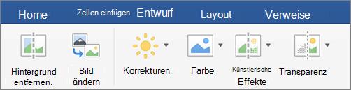 Klicken Sie auf der Registerkarte Format auf Hintergrund entfernen