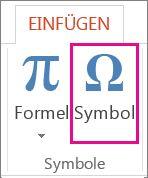 Einfügen eines Symbols