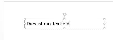Sie können Ihren Text in das Textfeld eingeben.