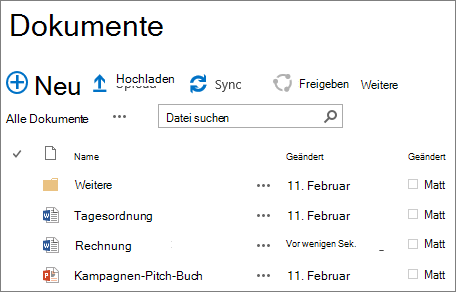 SharePoint-Website Bibliothek
