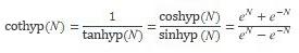 Gleichung für COTHYP
