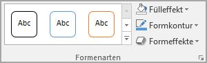 Shape-Formatvorlagen