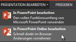 In PowerPoint Online öffnen