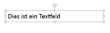 Textfeld mit Rahmen