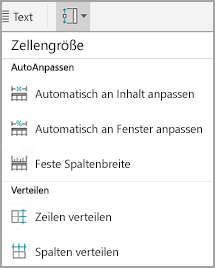 Android: Größe von Tabellenzellen
