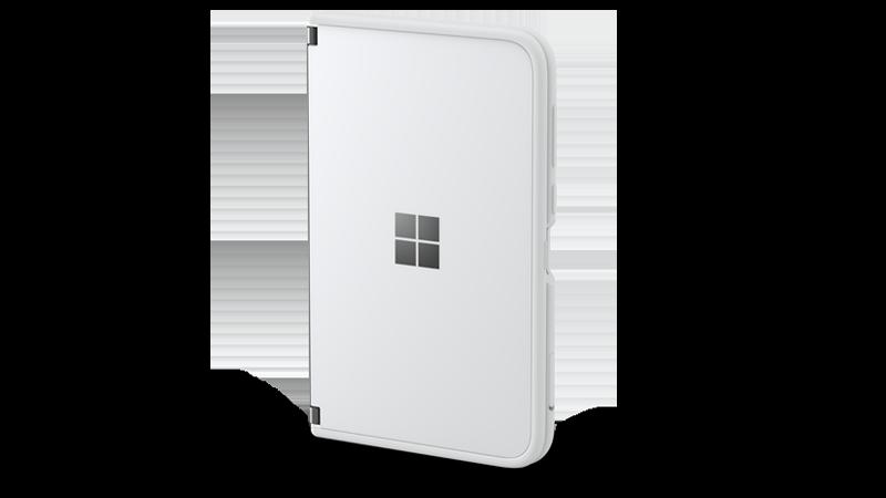 Surface Duo mit befestigtem Schutzrahmen