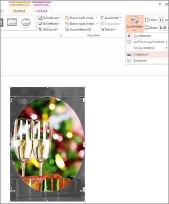 Bild mit angewendeter Option 'Zuschneiden/Füllbereich' für eine Form