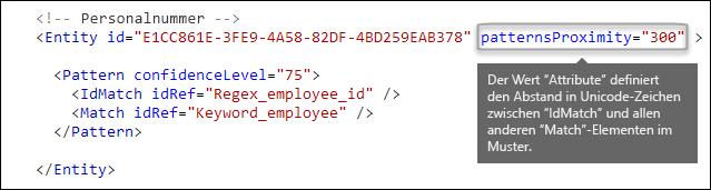"""XML-Markup mit dem Attribut """"MusterNäherung"""""""