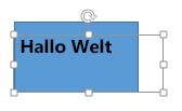 Verschieben Sie das Textfeld auf das Objekt, hinter dem es ausgeblendet werden soll.