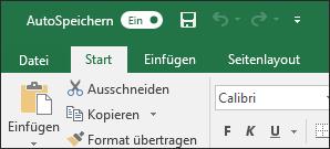 """Titelleiste in Excel mit der Umschaltfläche """"AutoSpeichern"""""""