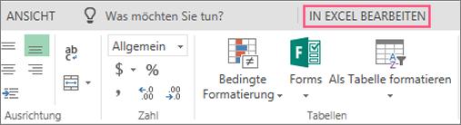 Schaltfläche in Excel bearbeiten