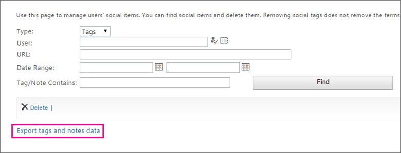 """Screenshot mit hervorgehobenem Link """"Exportieren"""""""