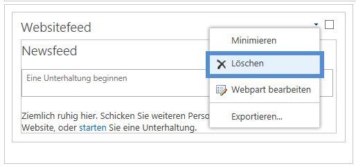Webpart löschen