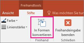 """Abbildung der Schaltfläche """"In Formen konvertieren"""" in den Freihandtools"""