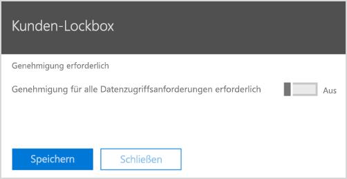 Genehmigung für Kunden-Lockbox anfordern