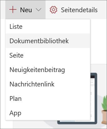 SPO_Liste oder Bibliothek hinzufügen