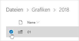Auswählen eines OneDrive-Ordners