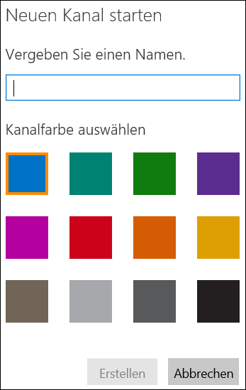 Office 365 Video 'Kanal erstellen'