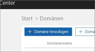 """Auf """"Domäne hinzufügen"""" klicken"""