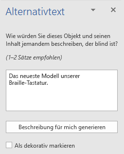 Word Win32 Bereich Alternativtext für Bilder