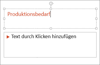 Abbildung des Hinzufügens von Text zu einem Textfeld in PowerPoint