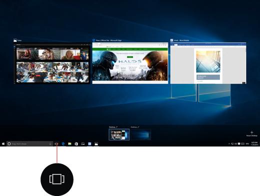 Bildschirmfoto von virtuellen Desktops