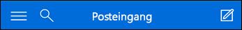 Obere Navigationsleiste für Mini Outlook Web App
