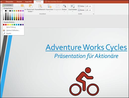Verwenden des Tools Grafikfüllung, um die Farbe eines SVG-Bilds zu ändern