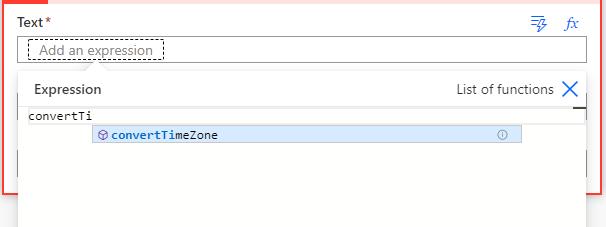 Konvertieren eines Zeit Zonen Ausdrucks in Power Automation
