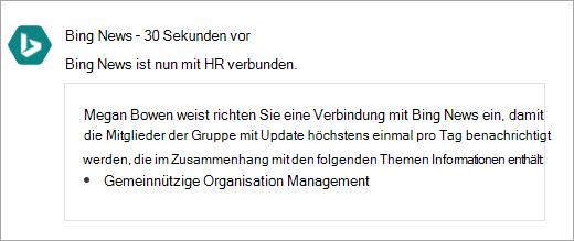 Screenshot von Office 365 Connected Jammer Gruppe mit neuer Verbindung