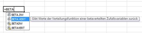 Beispiel für AutoVervollständigen-Formel