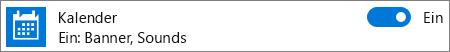 Deaktivieren von Kalenderbenachrichtigungen in Windows 10 über die Systemeinstellungen