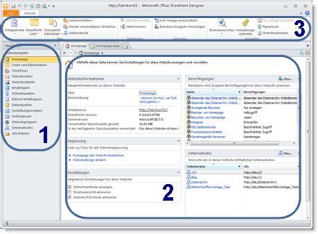 Abbildung von SharePoint Designer2010