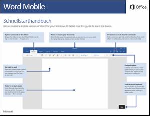 Word Mobile – Schnellstarthandbuch