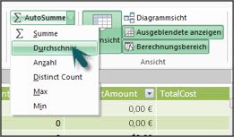 AutoSumme in Power Pivot