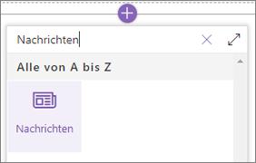 Das News-Webpart in der Webpart-Toolbox