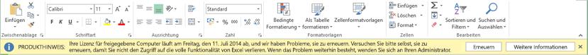 Ablaufdatum der Lizenz für gemeinsam genutzte Computer