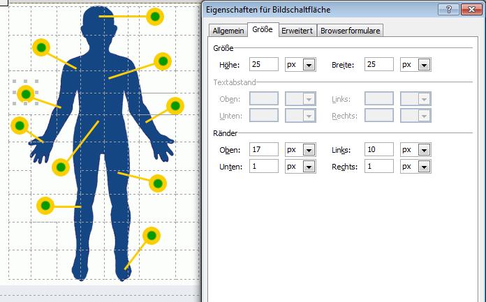 Bildschaltflächen-Eigenschaften