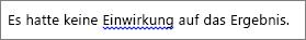 Durch blaue Wellenlinie angezeigter, möglicher Grammatikfehler
