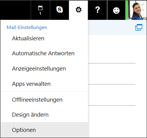Outlook im Web – Einstellungsoptionen