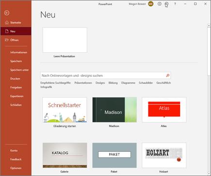 PowerPoint – Neu erstellen
