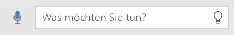 """Zeigt das Suchfeld """"Sie wünschen"""" in Office Mobile."""