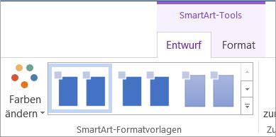 """Schaltfläche """"Farben ändern"""" auf der Registerkarte """"SmartArt-Tools – Entwurf"""""""