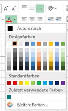 Schriftfarbenauswahl