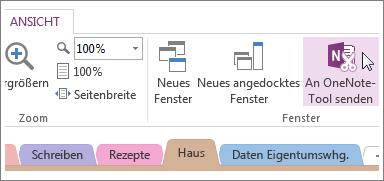Schnelle Notizen mit dem Tool 'An OneNote senden' verwalten