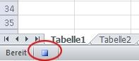 Die Schaltfläche Aufzeichnung beenden, klicken Sie auf der Statusleiste