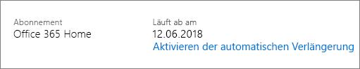 Datum, an dem dieses Abonnement abläuft