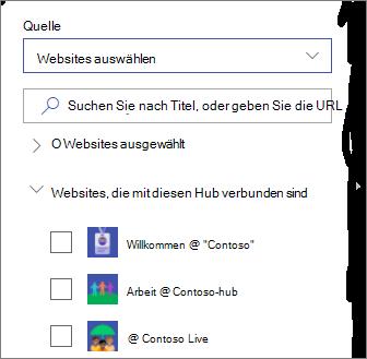 Wählen Sie Websites aus.